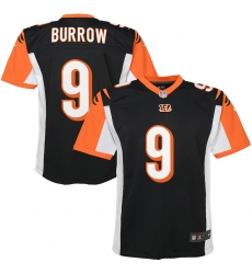 Youth Cincinnati Bengals #9 Joe Burrow Nike Black 2020 NFL Draft First Round Pick Game Jersey.webp