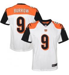 Youth Cincinnati Bengals #9 Joe Burrow Nike White 2020 NFL Draft First Round Pick Game Jersey.webp