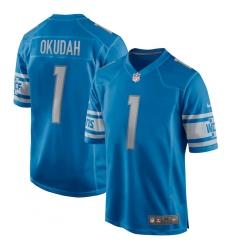 Men's Detroit Lions Nike #1 Jeff Okudah Blue 2020 NFL Draft First Round Pick Game Jersey.webp