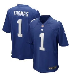 Men's New York Giants #1 Andrew Thomas Nike Royal 2020 NFL Draft First Round Pick Game Jersey.webp