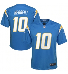 Youth Los Angeles Chargers #10 Justin Herbert Nike Powder Blue 2020 NFL Draft First Round Pick Game Jersey.webp
