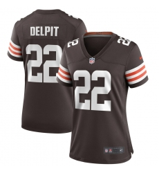 Women's Cleveland Browns #22 Grant Delpit Nike Brown Game Jersey