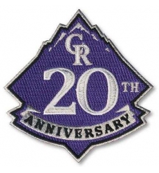 Stitched 2013 Colorado Rockies 20th Anniversary Logo Sleeve Patch