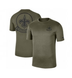 Football Men's New Orleans Saints Olive 2019 Salute to Service Sideline Seal Legend Performance T-Shirt