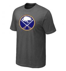 NHL Men's Buffalo Sabres Big & Tall Logo T-Shirt - Dark Grey