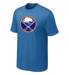 NHL Men's Buffalo Sabres Big & Tall Logo T-Shirt - Light Blue