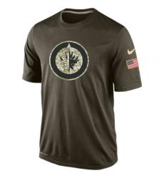 NHL Men's Winnipeg Jets Nike Olive Salute To Service KO Performance Dri-FIT T-Shirt