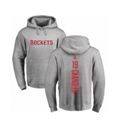 Basketball Houston Rockets #19 Tyson Chandler Ash Backer Pullover Hoodie