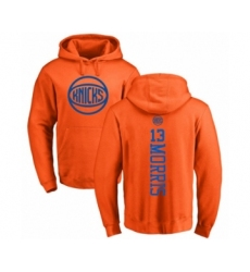 Basketball New York Knicks #13 Marcus Morris Orange One Color Backer Pullover Hoodie