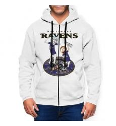 Raven Men's Zip Hooded Sweatshirt