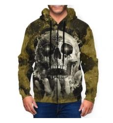 Saints Men's Zip Hooded Sweatshirt