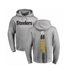 Pittsburgh Steelers #88 Nick Vannett Ash Backer Pullover Hoodie