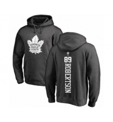 Hockey Toronto Maple Leafs #89 Nicholas Robertson Charcoal One Color Backer Pullover Hoodie