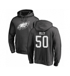 Philadelphia Eagles #50 Duke Riley Ash One Color Pullover Hoodie
