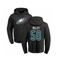 Philadelphia Eagles #50 Duke Riley Black Name & Number Logo Pullover Hoodie