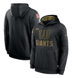 Men's NFL New York Giants 2020 Salute To Service Black Pullover Hoodie