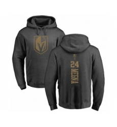 Hockey Vegas Golden Knights #24 Jaycob Megna Charcoal One Color Backer Pullover Hoodie