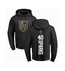 Hockey Vegas Golden Knights #40 Garret Sparks Black Backer Pullover Hoodie
