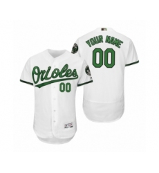 Men's Orioles Custom White Turn Back the Clock Earth Day Throwback Jersey