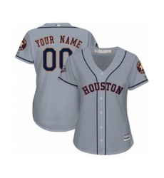 Women's Houston Astros Customized Authentic Grey Road Cool Base 2019 World Series Bound Baseball Jersey