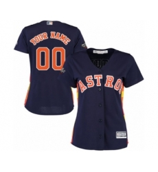 Women's Houston Astros Customized Authentic Navy Blue Alternate Cool Base 2019 World Series Bound Baseball Jersey