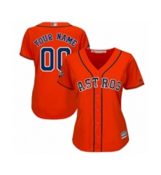 Women's Houston Astros Customized Authentic Orange Alternate Cool Base 2019 World Series Bound Baseball Jersey