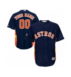 Youth Houston Astros Customized Authentic Navy Blue Alternate Cool Base 2019 World Series Bound Baseball Jersey