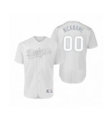 Men's Los Angeles Dodgers Custom White 2019 Players Weekend Nickname Authentic Jersey