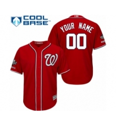 Youth Washington Nationals Customized Authentic Red Alternate 1 Cool Base 2019 World Series Champions Baseball Jersey