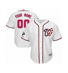 Youth Washington Nationals Customized Authentic White Home Cool Base 2019 World Series Champions Baseball Jersey