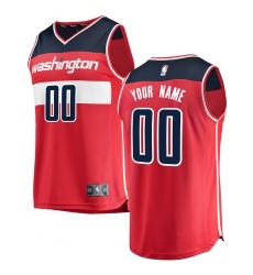 Men s Washington Wizards Fanatics Branded Red Fast Break Custom Replica  Jersey - Icon Edition 9d13f4417