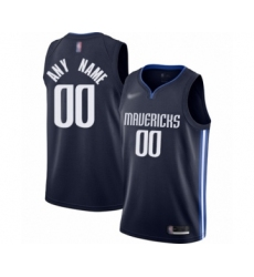 Youth Dallas Mavericks Customized Swingman Navy Finished Basketball Jersey - Statement Edition