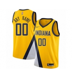 Youth Indiana Pacers Customized Swingman Gold Finished Basketball Jersey - Statement Edition
