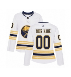 Women's Buffalo Sabres Customized Authentic White 50th Season Hockey Jersey