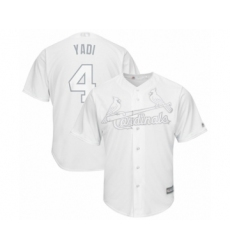 Men's St. Louis Cardinals #4 Yadier Molina  Yadi  Authentic White 2019 Players Weekend Baseball Jersey