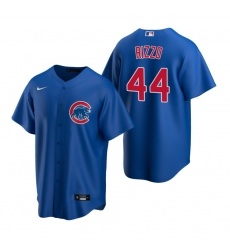 Men's Nike Chicago Cubs #44 Anthony Rizzo Royal Alternate Stitched Baseball Jersey