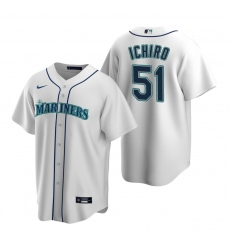 Men's Nike Seattle Mariners #51 Ichiro Suzuki White Home Stitched Baseball Jersey