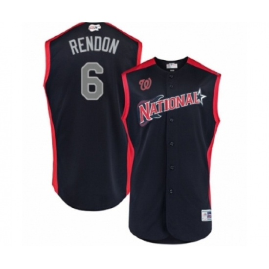 Men's Washington Nationals #6 Anthony Rendon Authentic Navy Blue National League 2019 Baseball All-Star Jersey