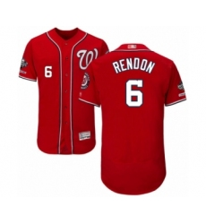 Men's Washington Nationals #6 Anthony Rendon Red Alternate Flex Base Authentic Collection 2019 World Series Champions Baseball Jersey