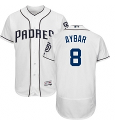 San Diego Padres #8 Erick Aybar White Flexbase Authentic Collection Stitched MLB Jersey