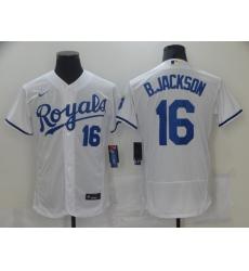Men's Nike Kansas City Royals #16 Bo Jackson White Alternate Stitched Baseball Jersey