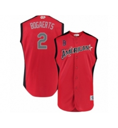 Men's Boston Red Sox #2 Xander Bogaerts Authentic Red American League 2019 Baseball All-Star Jersey