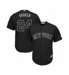 Men's New York Yankees #24 Gary Sanchez  Kraken  Authentic Black 2019 Players Weekend Baseball Jersey