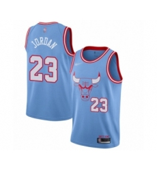 Men's Chicago Bulls #23 Michael Jordan Swingman Blue Basketball Jersey - 2019 20 City Edition