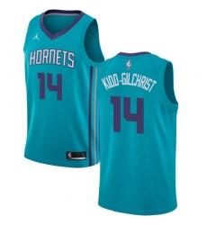 Men's Nike Jordan Charlotte Hornets #14 Michael Kidd-Gilchrist Swingman Teal NBA Jersey - Icon Edition