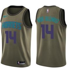Youth Nike Charlotte Hornets #14 Michael Kidd-Gilchrist Swingman Green Salute to Service NBA Jersey