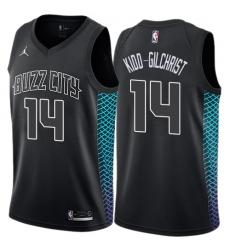 Youth Nike Jordan Charlotte Hornets #14 Michael Kidd-Gilchrist Swingman Black NBA Jersey - City Edition