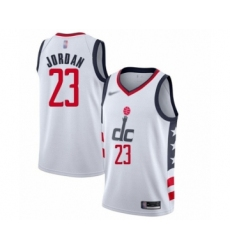 Men's Washington Wizards #23 Michael Jordan Swingman White Basketball Jersey - 2019 20 City Edition