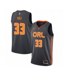 Men's Orlando Magic #33 Grant Hill Swingman Charcoal Basketball Jersey - 2019 20 City Edition