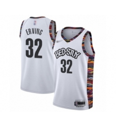 Men's Brooklyn Nets #32 Julius Erving Swingman White Basketball Jersey - 2019   20 City Edition